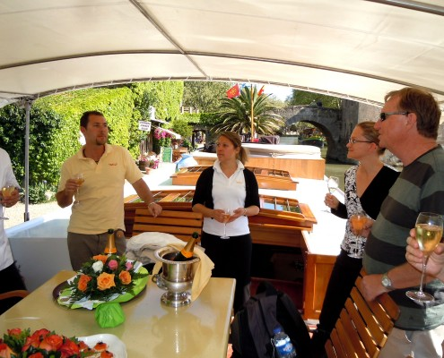 Champagne on Tango Barge - Canal du Midi © Barge Vacations