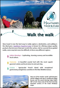 Walk the walk © Hawthorn Travel & Cruise